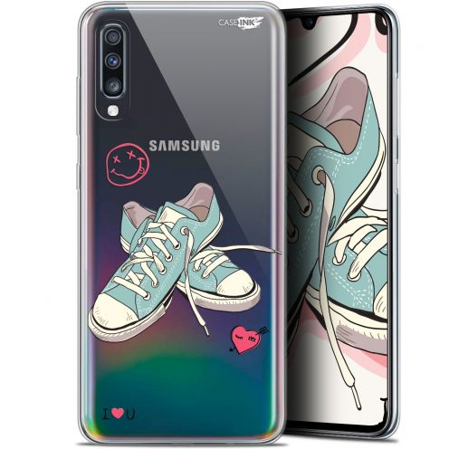 "Extra Slim Gel Samsung Galaxy A70 (6.7"") Case Design Mes Sneakers d'Amour"