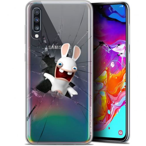 "Gel Samsung Galaxy A70 (6.7"") Case Lapins Crétins™ Breaking Glass"