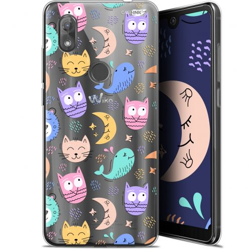 "Extra Slim Gel Wiko View 2 (6"") Case Design Chat Hibou"