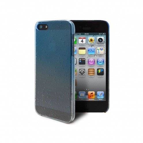 Raindrops case for iPhone 5 sky blue