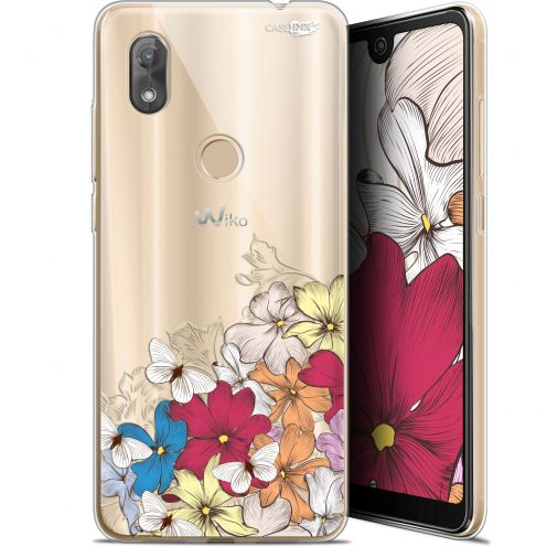 "Extra Slim Gel Wiko View 2 (6"") Case Design Nuage Floral"
