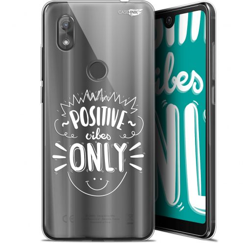 "Extra Slim Gel Wiko View 2 (6"") Case Design Positive Vibes Only"