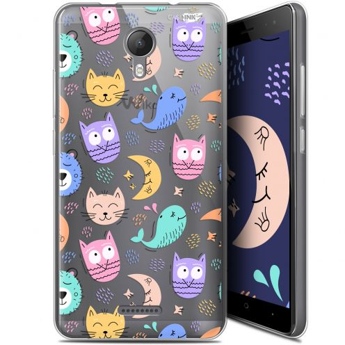 """Extra Slim Gel Wiko Jerry 2 (5.0"""") Case Design Chat Hibou"""