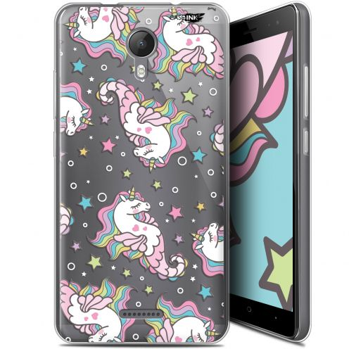 "Extra Slim Gel Wiko Jerry 2 (5.0"") Case Design Licorne Dormante"