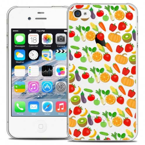 Extra Slim Crystal iPhone 4/4s Case Foodie Healthy