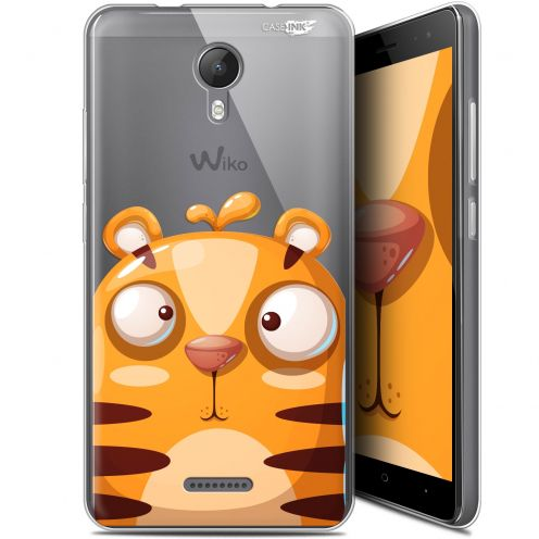 "Extra Slim Gel Wiko Jerry 2 (5.0"") Case Design Cartoon Tiger"