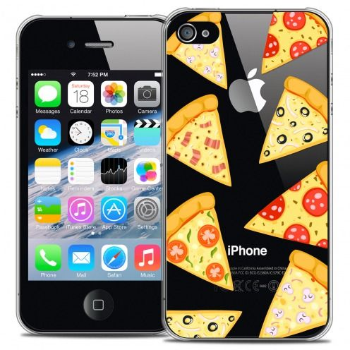 Extra Slim Crystal iPhone 4/4s Case Foodie Pizza