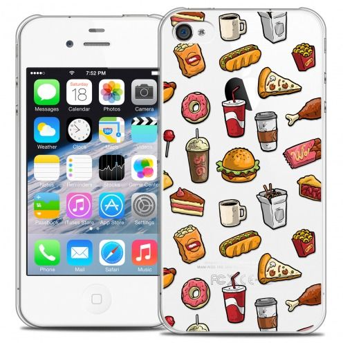 Extra Slim Crystal iPhone 4/4s Case Foodie Fast Food