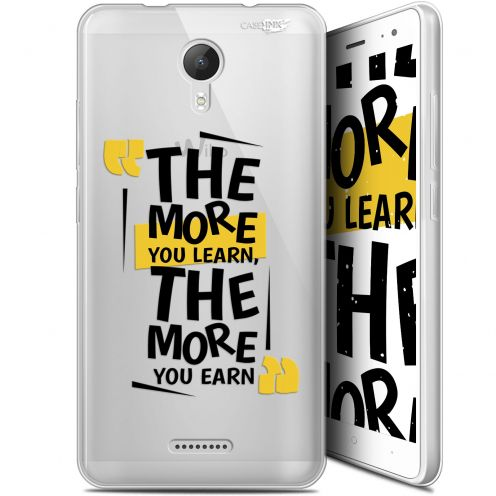 """Extra Slim Gel Wiko Jerry 2 (5.0"""") Case Design The More You Learn"""