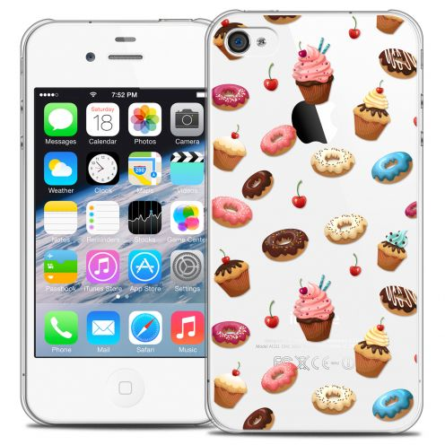 Extra Slim Crystal iPhone 4/4s Case Foodie Donuts
