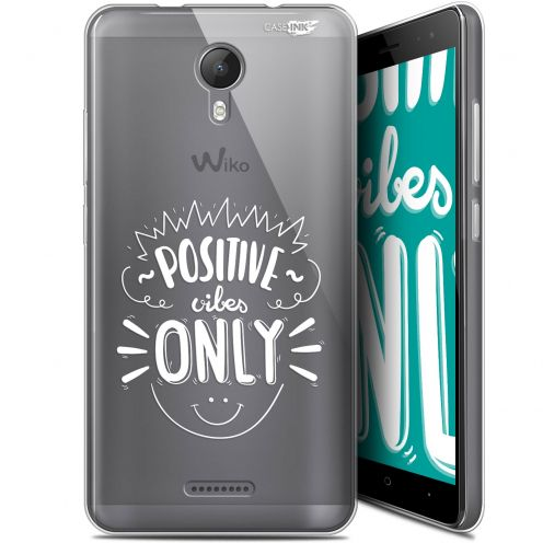 """Extra Slim Gel Wiko Jerry 2 (5.0"""") Case Design Positive Vibes Only"""