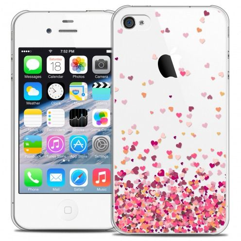 Extra Slim Crystal iPhone 4/4s Case Sweetie Heart Flakes