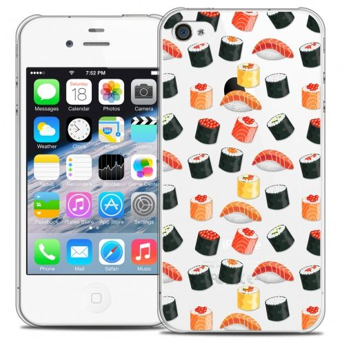 Extra Slim Crystal iPhone 4/4s Case Foodie Sushi