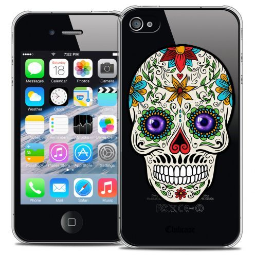 Extra Slim Crystal iPhone 4/4s Case Skull Maria's Flower