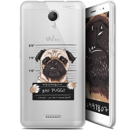 "Extra Slim Gel Wiko Jerry 2 (5.0"") Case Design Beware The Puggy Dog"