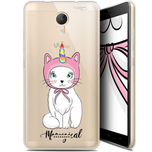 "Extra Slim Gel Wiko Jerry 2 (5.0"") Case Design Ce Chat Est MEOUgical"
