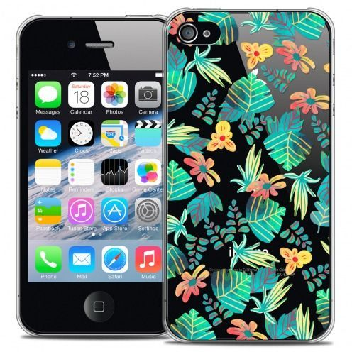 Extra Slim Crystal iPhone 4/4s Case Spring Tropical
