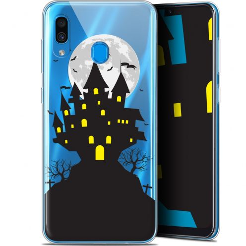 "Extra Slim Gel Samsung Galaxy A30 (6.4"") Case Halloween Castle Scream"