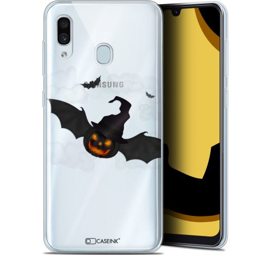 "Extra Slim Gel Samsung Galaxy A30 (6.4"") Case Halloween Chauve Citrouille"