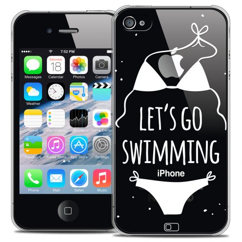Extra Slim Crystal iPhone 4/4s Case Summer Let's Go Swim
