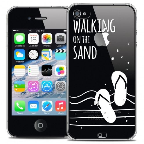 Extra Slim Crystal iPhone 4/4s Case Summer Walking on the Sand