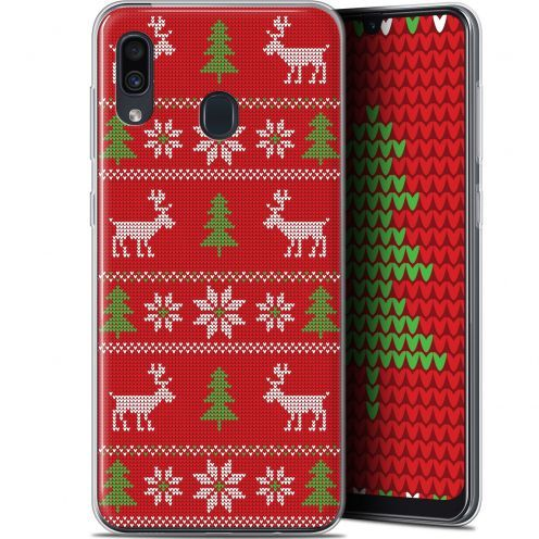"Extra Slim Gel Samsung Galaxy A30 (6.4"") Case Noël 2017 Couture Rouge"