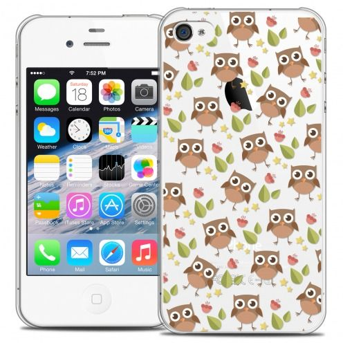 Extra Slim Crystal iPhone 4/4s Case Summer Hibou