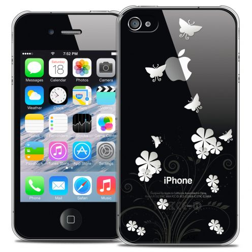 Extra Slim Crystal iPhone 4/4s Case Summer Papillons