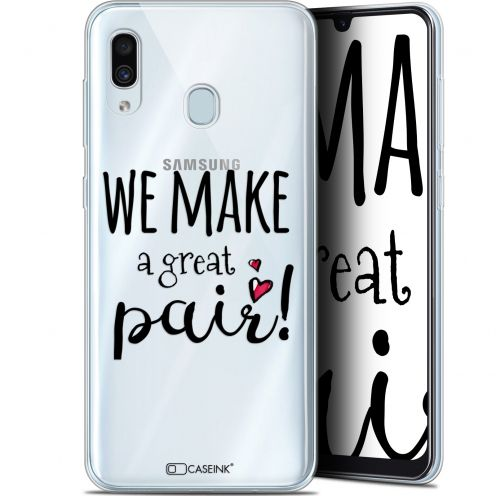 "Extra Slim Gel Samsung Galaxy A30 (6.4"") Case Love We Make Great Pair"