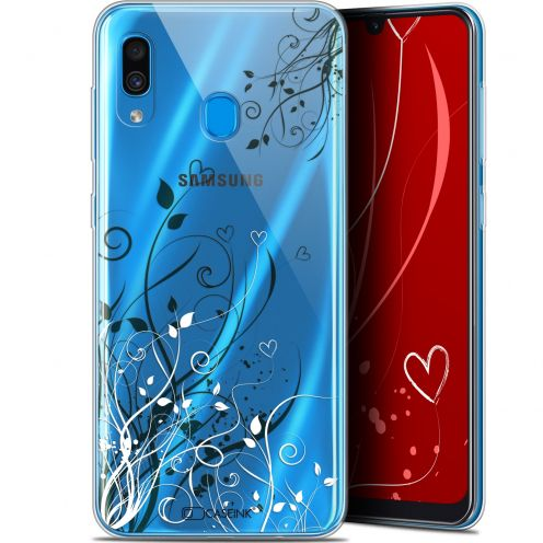 "Extra Slim Gel Samsung Galaxy A30 (6.4"") Case Love Hearts Flowers"