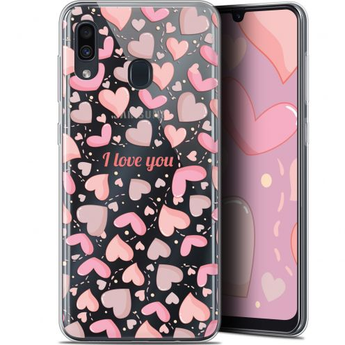 "Extra Slim Gel Samsung Galaxy A30 (6.4"") Case Love I Love You"