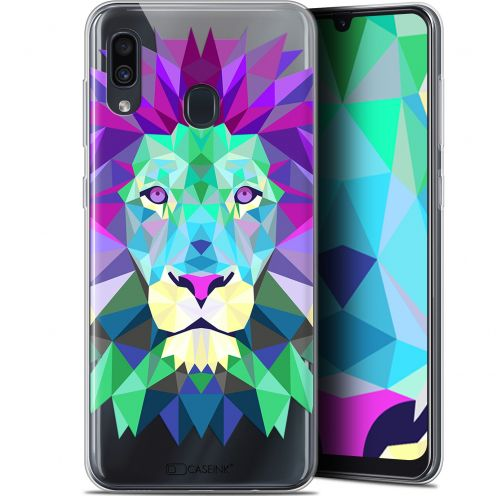 "Extra Slim Gel Samsung Galaxy A30 (6.4"") Case Polygon Animals Lion"