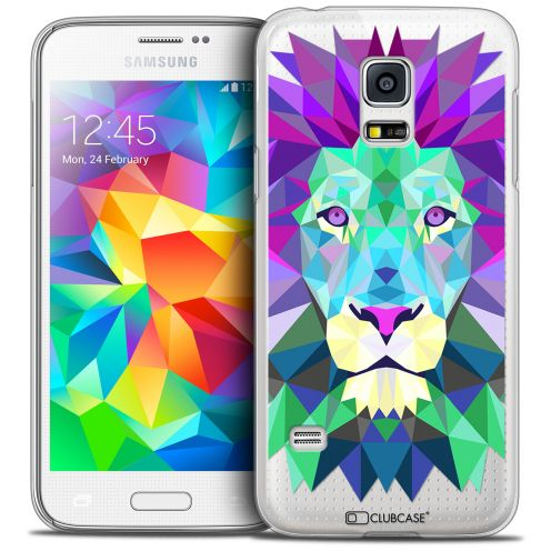 Extra Slim Crystal Galaxy S5 Mini Case Polygon Animals Lion
