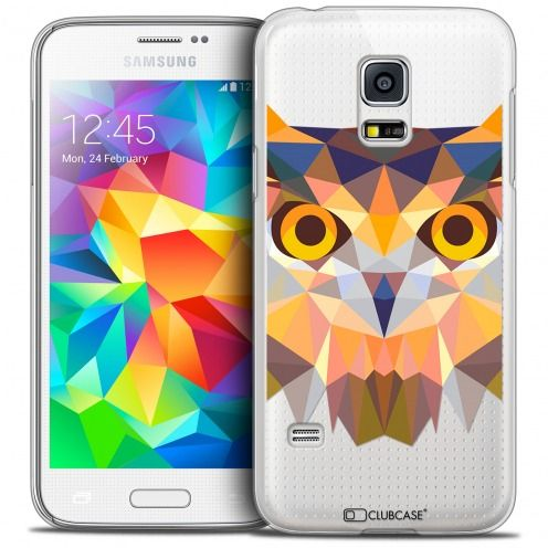 Extra Slim Crystal Galaxy S5 Mini Case Polygon Animals Owl