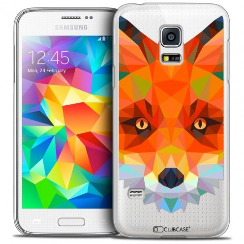 Extra Slim Crystal Galaxy S5 Mini Case Polygon Animals Fox