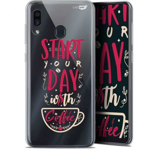 "Extra Slim Gel Samsung Galaxy A30 (6.4"") Case Design Start With Coffee"