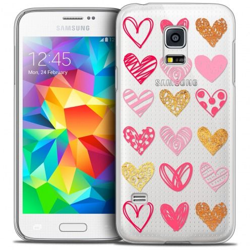 Extra Slim Crystal Galaxy S5 Mini Case Sweetie Doodling Hearts