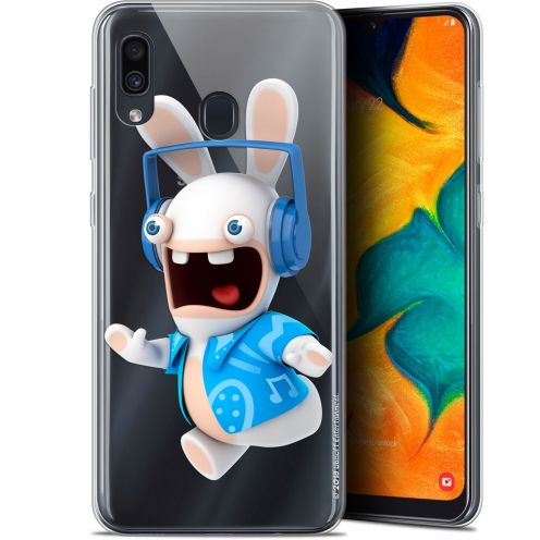 "Gel Samsung Galaxy A30 (6.4"") Case Lapins Crétins™ Techno Lapin"