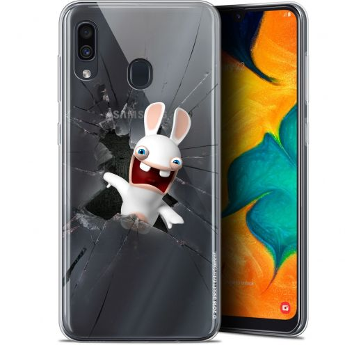 "Gel Samsung Galaxy A30 (6.4"") Case Lapins Crétins™ Breaking Glass"