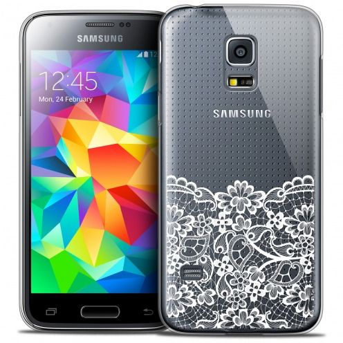 Extra Slim Crystal Galaxy S5 Mini Case Spring Bas dentelle