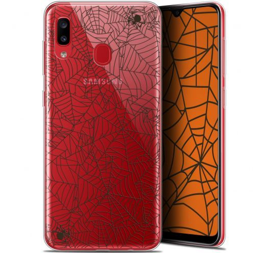 "Extra Slim Gel Samsung Galaxy A20 (6.4"") Case Halloween Spooky Spider"