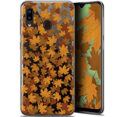 "Extra Slim Gel Samsung Galaxy A20 (6.4"") Case Autumn 16 Feuilles"