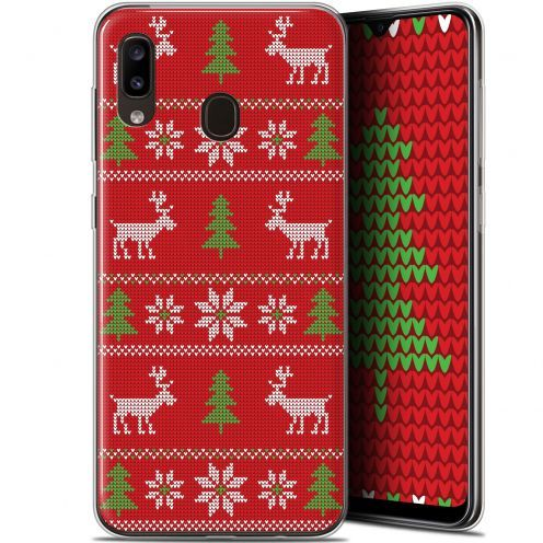 """Extra Slim Gel Samsung Galaxy A20 (6.4"""") Case Noël 2017 Couture Rouge"""