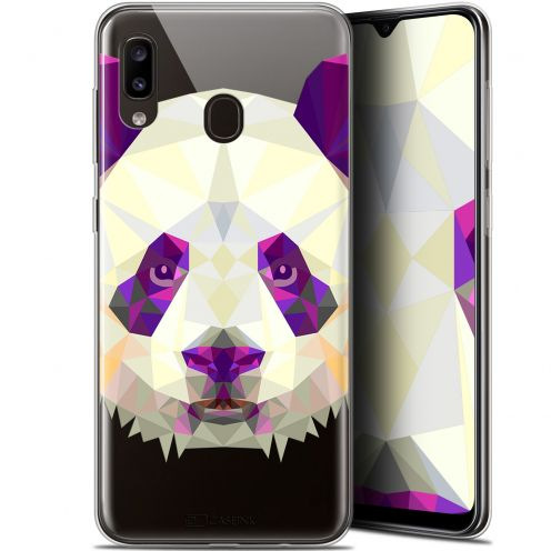 "Extra Slim Gel Samsung Galaxy A20 (6.4"") Case Polygon Animals Panda"