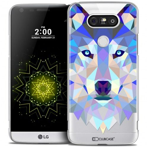 Extra Slim Crystal LG G5 Case Polygon Animals Wolf