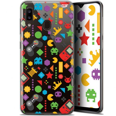 "Extra Slim Gel Samsung Galaxy A20 (6.4"") Case Design PacMan"