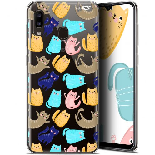 "Extra Slim Gel Samsung Galaxy A20 (6.4"") Case Design Chat Danse"