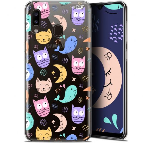 "Extra Slim Gel Samsung Galaxy A20 (6.4"") Case Design Chat Hibou"
