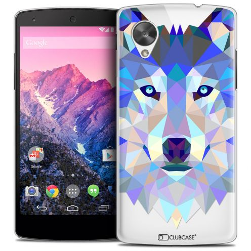 Extra Slim Crystal Nexus 5 Case Polygon Animals Wolf