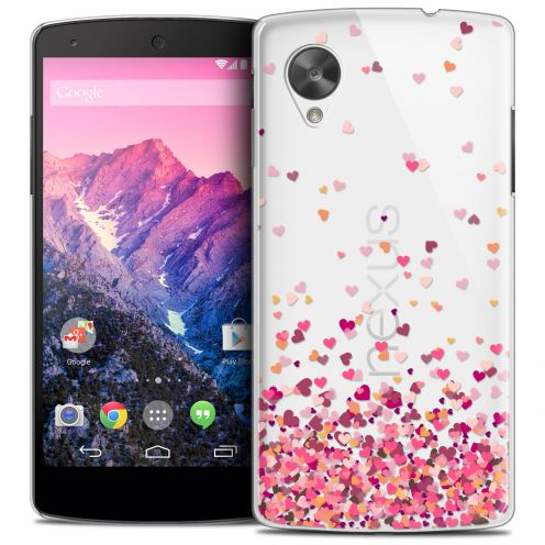 Extra Slim Crystal Nexus 5 Case Sweetie Heart Flakes
